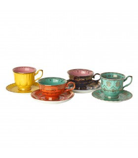 Multi-color tea set of 4