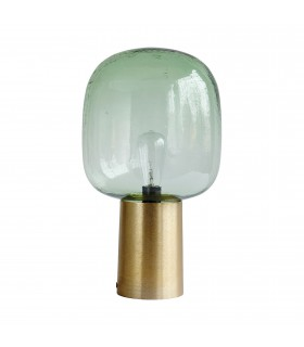 Light_Green glass table lamp