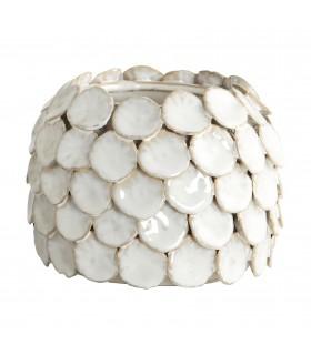 Vase blanc en céramique glacée