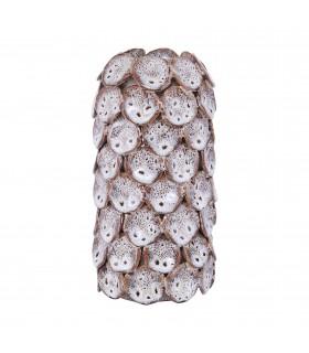 Vase texture en céramique glacée