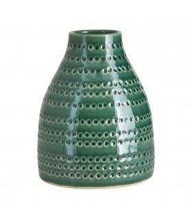 Vase verte en céramique