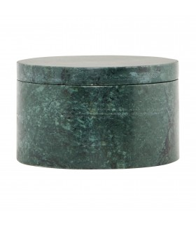 Green marble jar with lid