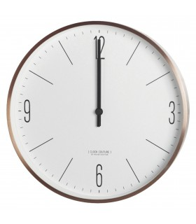Gold & white wall clock