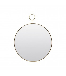 Brass mirror with loop