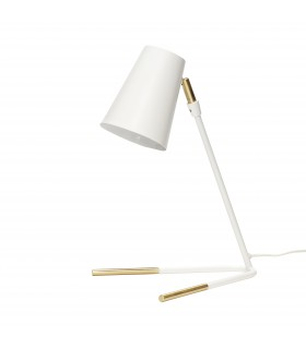 Light Modern white and brass task lamp