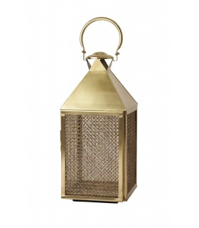 Lantern large brass plated