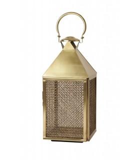 Lantern large brass plated