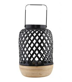 Grande lanterne contemporaine en osier