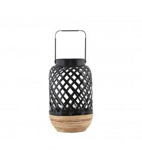 Petite lanterne contemporaine en osier