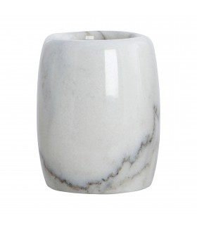 Bath_White marble toothbrush holder