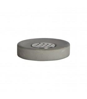 Sdb_Ciment gris Porte-savon en ciment