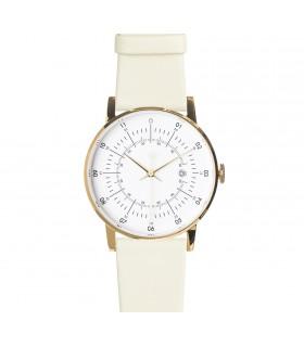 Montre Lisa bracelet cuir blanc