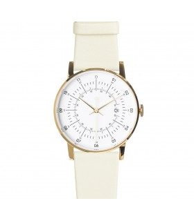 Watche_Lisa white leather strap