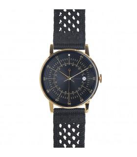 Montre_Hugo bracelet noir tissu