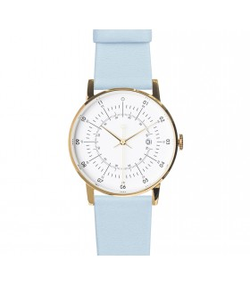 Montre Lisa bracelet cuir bleu clair