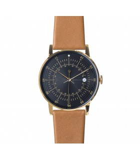 Watch_Hugo camel leather strap