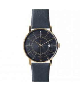 Montre Paul bracelet cuir bleu nuit