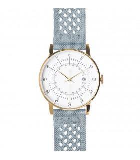 Montre Lisa bracelet bleu clair tissu