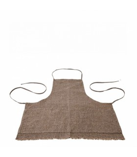 Linen_Brown apron