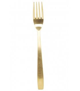 Fourchette dorée en inox
