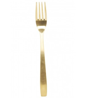 Titanium gold plated fork
