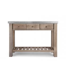 Table de jardinier en zinc