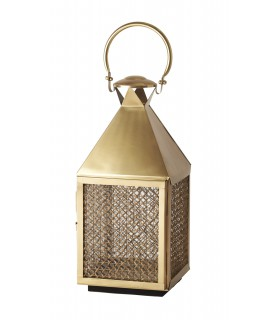 Lantern small brass plated