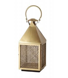 Lantern small brass plated