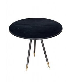 Table en pierre noire
