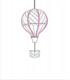 Dotted Hot air balloon