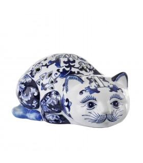 Sculpture chat en porcelaine