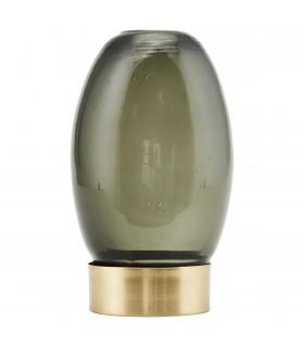 Lantern photophore de verre gris