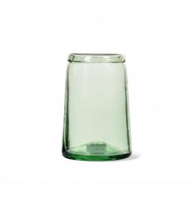Vase tulipe en verre recyclé