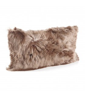Lumbar pillow alpaca fur