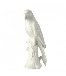 Parrot tabletop porcelain sculpture