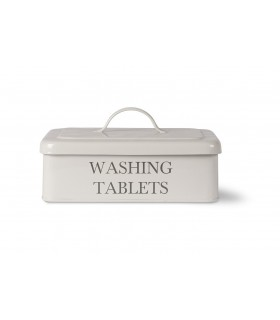 Washing tablets box with lid