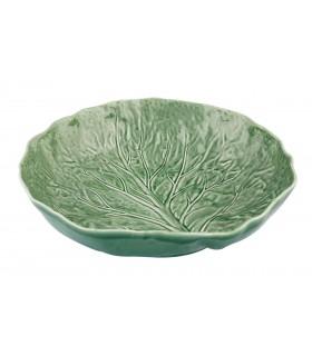 Saladier vert design feuille de chou