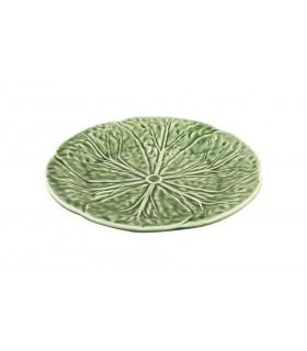 Assiette moyenne verte design feuille de chou