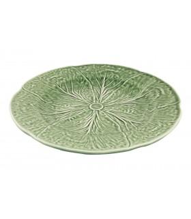 Assiette verte design feuille de chou