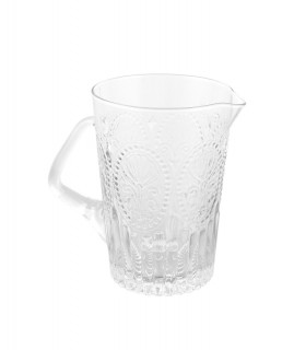 Medallion pitcher clear glass