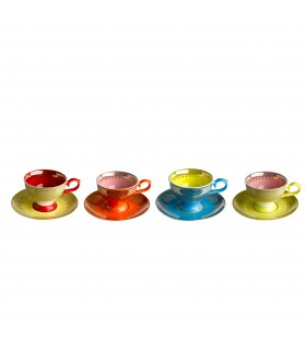 Coffee cups set of 4 Multi-color