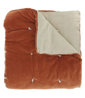Velvet Bed throw orange