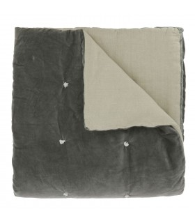 Velvet Bed throw anthracite