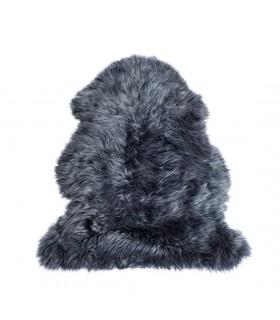 Wool sheepskin dark navy blue