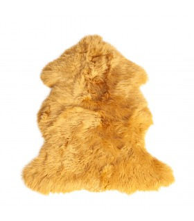 Wool sheep skin jellow