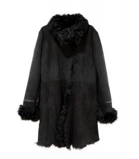 Fourrure manteau cintré