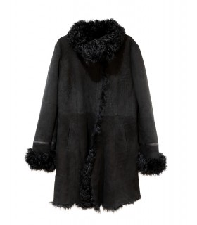 Fur Double face wool coat