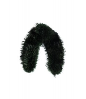 Fur_Raccoon collar antique green