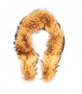 Fur_Raccoon collar natural brown